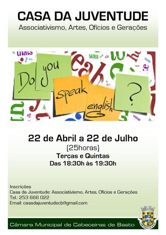 Formação Inglês «Do You Speak English»